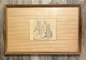 Vintage Antique Wood And Glass Serving Tray for Sale in Chapel Hill, NC