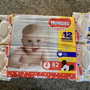 HUGGIES DIAPER BUNDLE-$35 for Sale in Riverside, CA