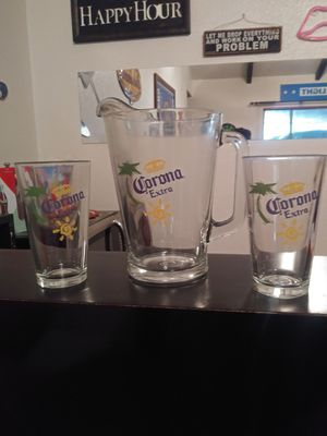 pitcher and two glasses for Sale in Fresno, CA