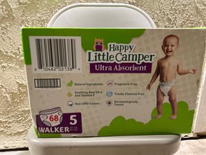 Happy little camper walkers size 5 68 count $15 for Sale in Santa Ana, CA