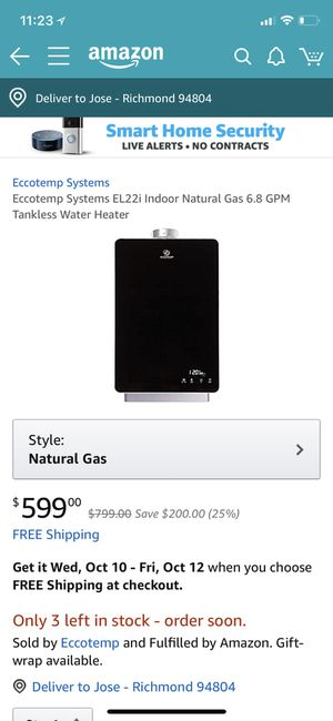 Indoor Water Heater for Sale in Richmond, CA