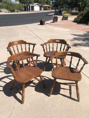 FOUR ANTIQUE CAPTAINS CHAIRS for Sale in Phoenix, AZ