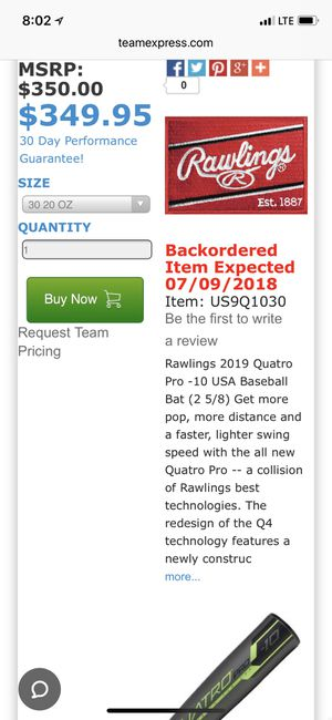 Baseball Bat / Sports / Outdoor/kids/athelete for Sale in San Leandro, CA