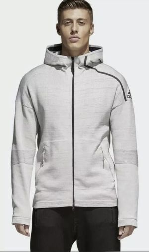 Adidas Z.N.E Prime HD Men's Full Zip Track Jacket Light Grey CF0636 NEW XXL 2XL for Sale in Hayward, CA