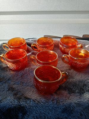 7 Marigold Carnival Glass cups for Sale in Palmdale, CA