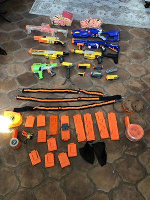 Nerf Gun Lot with Accessories & Darts for Sale in San Pedro, CA