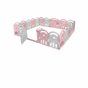20-Panel Baby Playpen Kids Activity Center Home w/Music Box & Basketball Hoop for Sale in Rowland Heights, CA