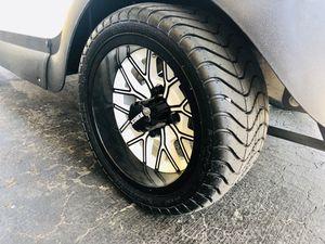 Brand New RHOX 12x6 White/Black Wheels & Tires - Golf Cart Wheels for Sale in Wenatchee, WA