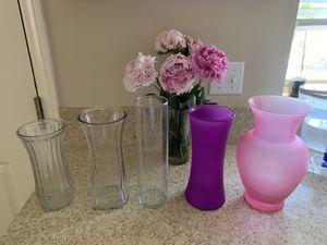 Flower Vases $7/each or 2 for $10 for Sale in Irvine, CA