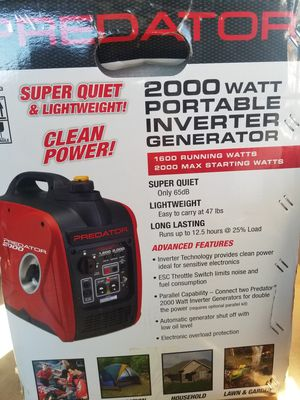 2000 Watts Very Quiet Inverter generator Brand NEW for Sale in Bakersfield, CA