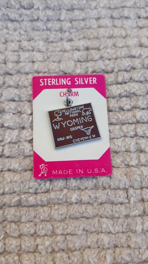 Wyoming Vintage Sterling Silver Charm for Sale in Chandler, AZ