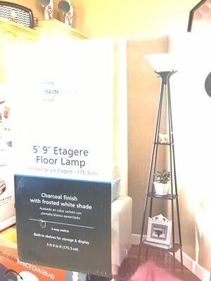 "5""9 Etagere Floor lamp for Sale in Port St. Lucie, FL"