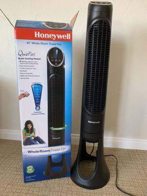 Honeywell Quiet Set 8-Speed Tower Fan Oscillating for Sale in San Diego, CA