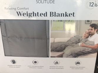 NEW 12lb. Weighted Blanket for Sale in Jurupa Valley,  CA
