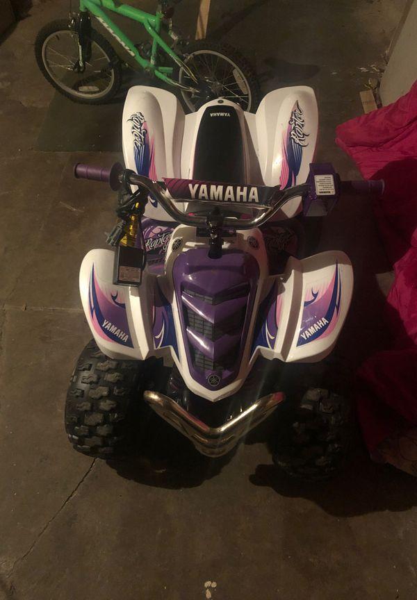 Girls Yamaha Four wheeler Powerwheel