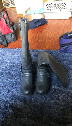 Black leather boots for Sale in Bothell, WA