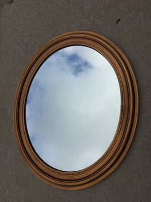 Oval mirror 22x26 gold color for Sale in Canoga Park, CA
