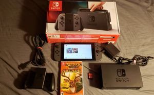 Nintendo Switch with box and 2 games for $260 for Sale in Las Vegas, NV