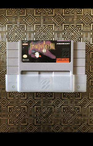 FINAL FANTASY 3 SNES Super Nintendo Game *RARE* for Sale in Chantilly, VA
