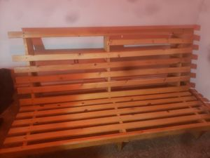 Queen sized futon mattress and frame for Sale in Bend, OR