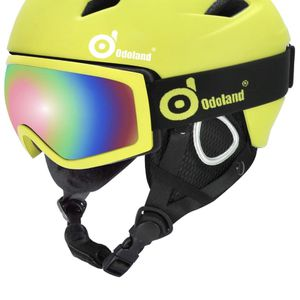 Odoland Snow Ski Helmet and Goggles Set, Sports Helmet for Sale in Los Angeles, CA
