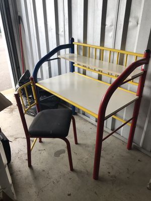 Kids/Child Metal Desk and Chair for Sale in Naperville, IL