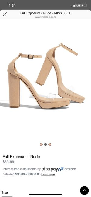 Nude heels (size 6.5) for Sale in City of Industry, CA