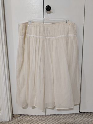 Cream cotton skirt from Banana Republic, size 8 for Sale in Sterling, VA
