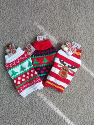 Xsmall Dog Xmas Sweaters $10 for All for Sale in Norfolk, VA
