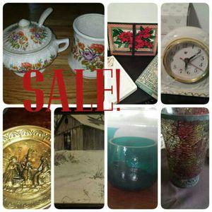 Sale antiques, art, clock, furniture, glassware, pottery for Sale in Wilmington, DE