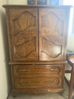 Antique Wood Wardrobe Dresser for Sale in Los Angeles, CA