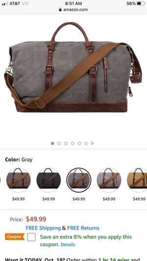 Men's leather and canvas bags for Sale in Yucaipa, CA