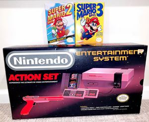Complete Nintendo system with super Mario 2 & 3 (excellent condition!) see pics for Sale in Howell Township, NJ