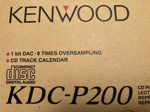 Kenwood KDC-P200 and KRC 207S in box with manuel for Sale in West Windsor Township, NJ