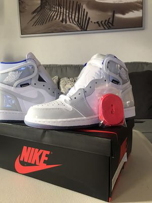 Jordan 1 Retro High Zoom White racer Blue (Size8) for Sale in Azusa, CA