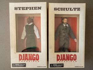 Django Unchained Collectable Action Figures- Stephen & Shultz - RARE for Sale in West Hollywood, CA