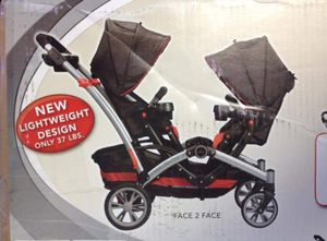 Slightly used Kolcraft contour option tandem double stroller with baby car seat adapter for Sale in City of Industry, CA
