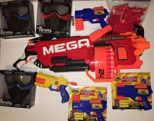 Nerf and gun set with mask and extra darts. for Sale in Alexandria, VA
