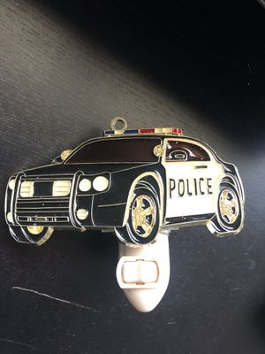 Stained Glass Police Car Nightlight for Sale in Los Angeles, CA