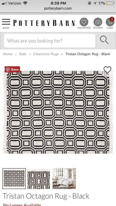 Tristan Octagonal Area Rug - Pottery