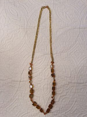 Gold and amber bead necklace for Sale in San Antonio, TX