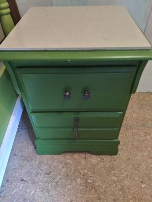 Green poster bed and a night stand for Sale in Greensboro, NC