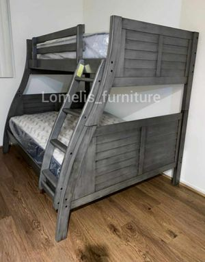 Twin/full bunk beds with mattresses included for Sale in Chino, CA