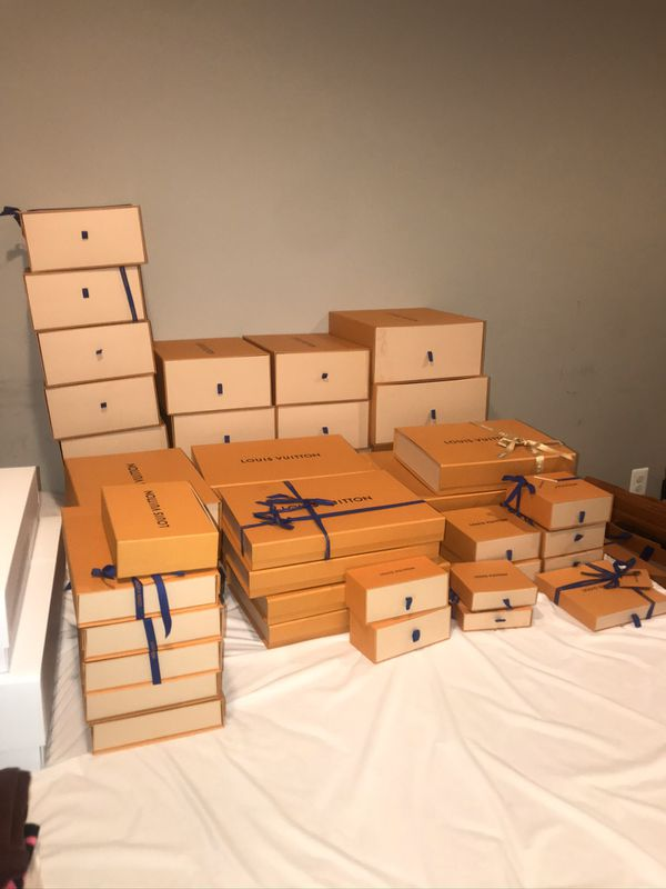 Louis Vuitton Boxes, Bags, Dust Bags, Garment Bags, Ribbons
