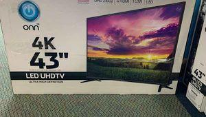 "Brand New 4K ONN UHDTV 43"" Open Box w/ warranty 0KI for Sale in Fullerton, CA"