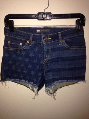 Levi's cut off flag shorts for Sale in Austin, TX