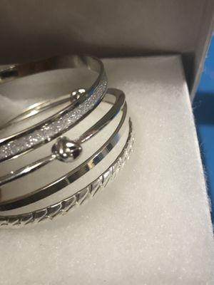 Set of4 silver bangle bracelets for Sale in Tacoma, WA