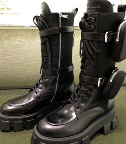 Prada Brushed Leather & Nylon Monolith Boots Sz36 36.5 for Sale in Philadelphia,  PA