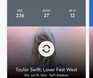 Taylor swift lover fest west ticket for Sale in Oakley, CA