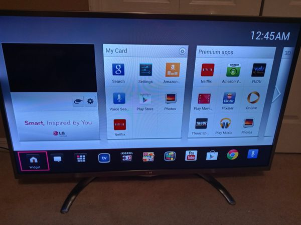 50 inch LG smart tv with 3d